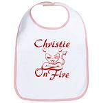 Christie On Fire Bib