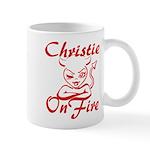 Christie On Fire Mug