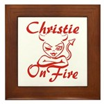 Christie On Fire Framed Tile