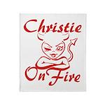 Christie On Fire Throw Blanket