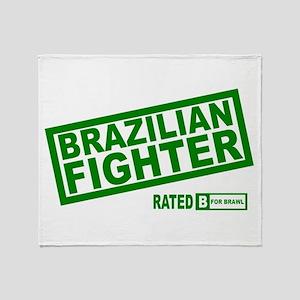 Brazilian Fighter Throw Blanket