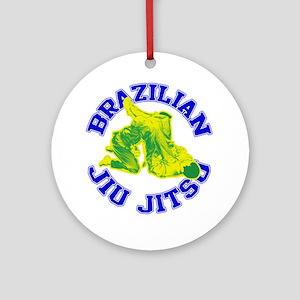 Brazilian Jiu-jitsu Ornament (Round)