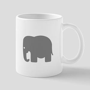 Grey Elephant Silhouette Mug