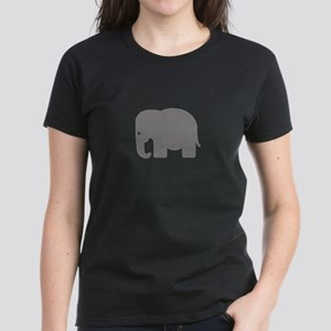 Grey Elephant Silhouette Women's Dark T-Shirt