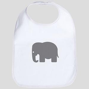Grey Elephant Silhouette Bib