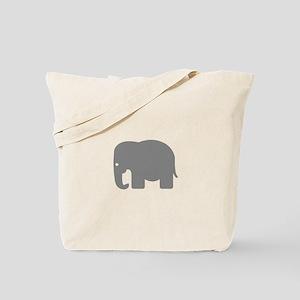 Grey Elephant Silhouette Tote Bag