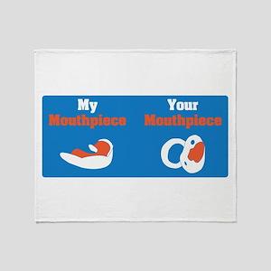 Mouthpiece Throw Blanket
