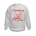 Christina On Fire Kids Sweatshirt