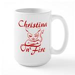 Christina On Fire Large Mug