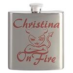 Christina On Fire Flask