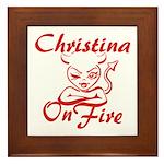 Christina On Fire Framed Tile