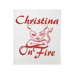 Christina On Fire Throw Blanket
