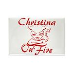 Christina On Fire Rectangle Magnet
