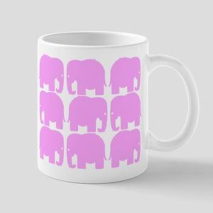 Pink Elephants Silhouette Mug