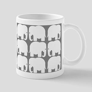 White Elephants Silhouette Mug