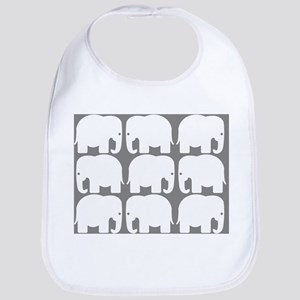 White Elephants Silhouette Bib