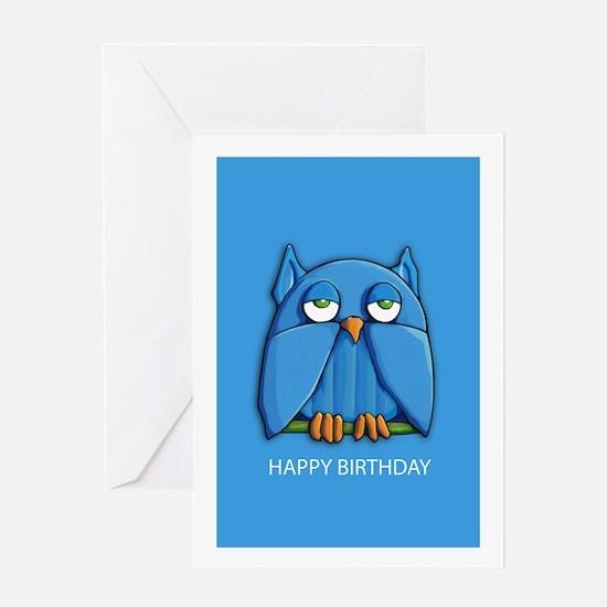 Aqua Owl aqua Greeting Card