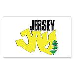 Jersey Jay logo Sticker (Rectangle)