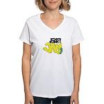 Jersey Jay logo Women's V-Neck T-Shirt