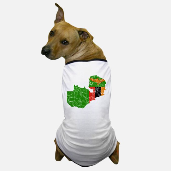 Zambia Flag And Map Dog T-Shirt