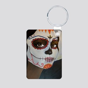 Day of the Dead Aluminum Photo Keychain