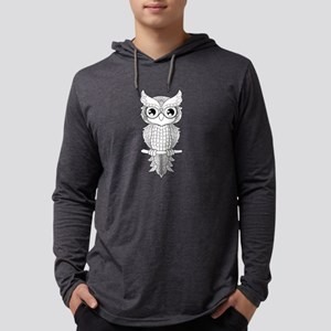 Cuet owl in black and white, mandala design Mens H