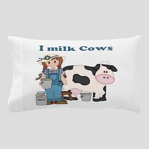Dairy Cow Girl Pillow Case