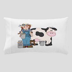 Dairy Farm Girl Pillow Case