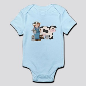 Dairy Farm Girl Infant Bodysuit