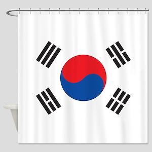 South Korea Shower Curtain