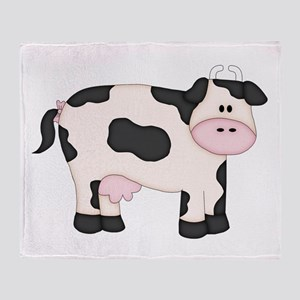 Holstein Milk Cow Throw Blanket