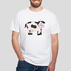 Holstein Milk Cow White T-Shirt