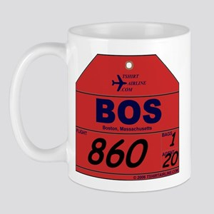 BOS - Boston airport Mug