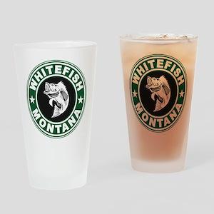 Whitefish Green Circle Drinking Glass