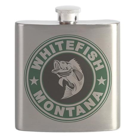 Whitefish Green Circle Flask