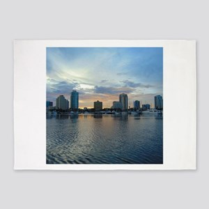 St Pete Skyline 5'x7'Area Rug
