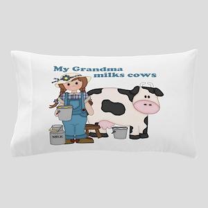 My Grandma Milks Cows Pillow Case