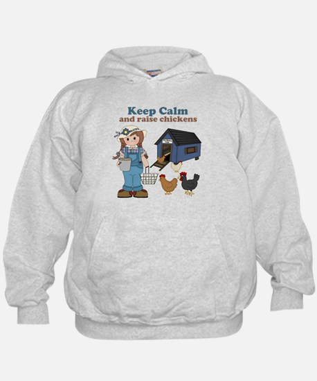 Keep Calm and Raise Chickens Hoodie