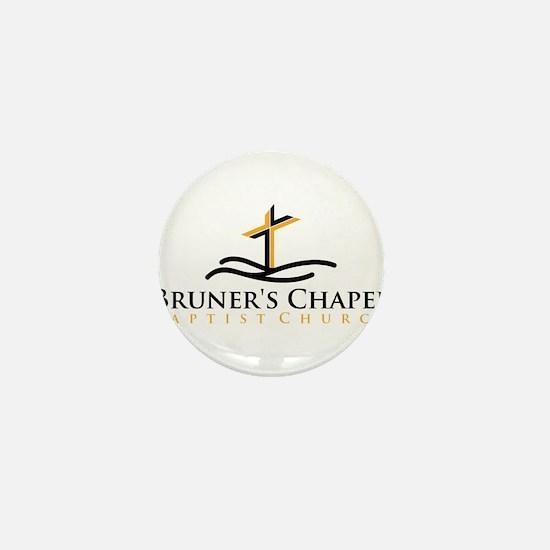 Bruners Chapel Cross Logo Mini Button
