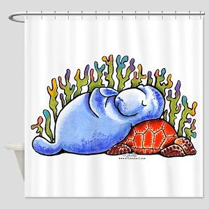 Sea Turtle n Manatee Shower Curtain
