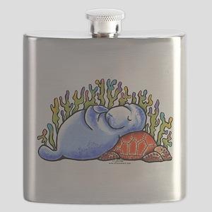 Sea Turtle n Manatee Flask