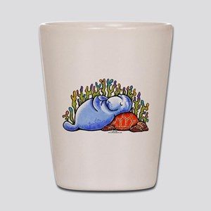 Sea Turtle n Manatee Shot Glass