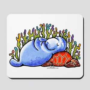 Sea Turtle n Manatee Mousepad