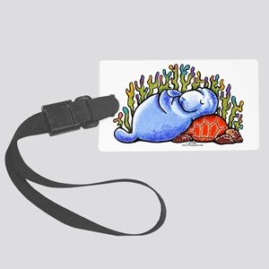 Sea Turtle n Manatee Large Luggage Tag