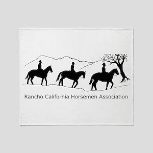 RCHA dark logo Throw Blanket