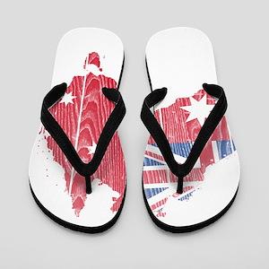 Australia Civil Ensign Flag And Map Flip Flops