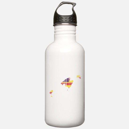 Balearic Islands Flag And Map Water Bottle