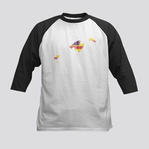 Balearic Islands Flag And Map Kids Baseball Jersey