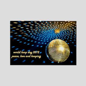 2012 Gold Disco Ball Rectangle Magnet