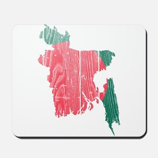 Bangladesh Flag And Map Mousepad